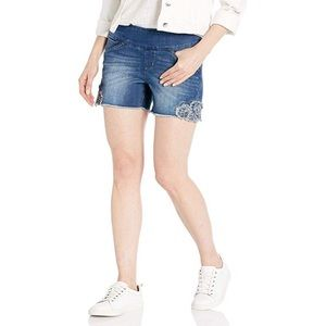 Ainsley Classic Fit Pull On Shorts With Embroidery